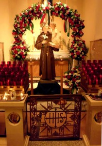Antique Statue Of St. Anthony Used In Procession